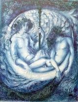 Reisesegen  Lieber Engel spiel mit mir Überfahrt ins Blaue Der Hochzeitsstadt Unendlichkeit Der Wanderstab, ein Holderbaum, Sei unser Sternzeltmast Und Schaukelschiff der Mond. Ein Fittich spann als Segel auf, Der andere sei uns Ruder, Wenn Stille kommt um Mitternacht. Lass mich nicht durch meine Angst Vor schwarzer Tiefe, großem Fisch, Verschlungen und verloren sein. Zum Schauen mich ins Klare bring, Das mir an deiner Seite dann Im Traum als Ankunft blüht.  Ernst Alt