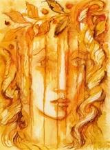 EROS Masken! Masken! Daß man Eros blende, Wer erträgt sein strahlendes Gesicht, wenn er wie die Sommersonnenwende frühlingliches Vorspiel unterbricht. Wie es unversehens im Geplauder anders wird und ernsthaft ... Etwas schrie ... Und er wirft den namenlosen Schauder wie ein Tempelinnres über sie. Oh verloren, plötzlich, oh verloren! Göttliche umarmen schnell. Leben wand sich, Schicksal ward geboren. Und im Innern weint ein Quell.  Rainer Maria Rilke