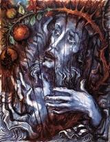 Lebenspsalter oder SVNT LACRIMÆ RERUM Meinem Herzen entspringt hochströmendes Lied, mir entfallenen Text Bohren die Dornen -  Strophe um Strophe -  aus blutblauem Traum. Durch das Gitter der Tränen habe ich Einsicht In den Garten des Lebens, Nieder auf meinen Ring Tropft die Treue des Todes.  Ernst Alt