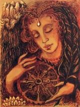 Mag ich auch braun sein, ihr Töchter Jerusalems, dunkelbraun wie die Zelte Kedars, so bin ich doch schön über und über  wie die Wandbehänge in Salomons Gemach.  Aus dem Hohenlied Salomonis  Der Siegel sagt mir, ich bin schön! Ihr sagt: zu altern sei auch mein Geschick. Vor Gott muß alles ewig stehn, In mir liebt IHN, für diesen Augenblick.  J.W. von Goethe, aus West-Östlicher Divan
